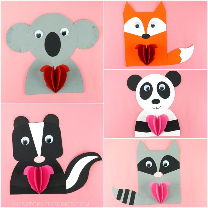 How To Make Animal Valentines Easy Valentine S Day Crafts For Kids