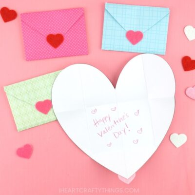 how to make a heart envelope