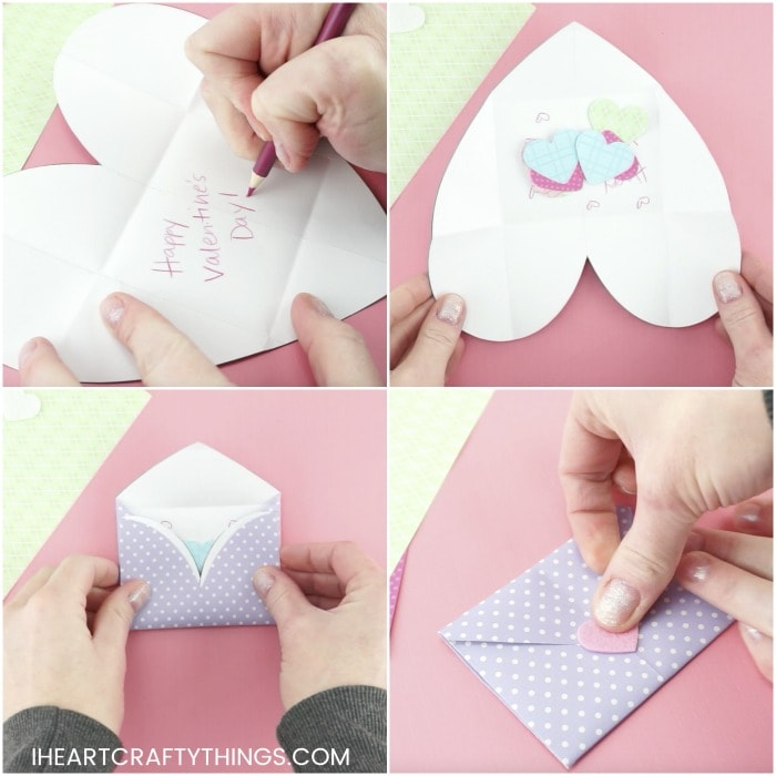 How to make an origami Heart Envelope / bag | Paper Crafts ... | 700x700