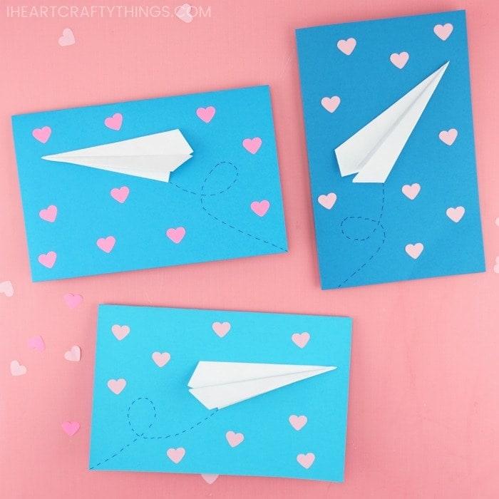 paper airplane valentine cards