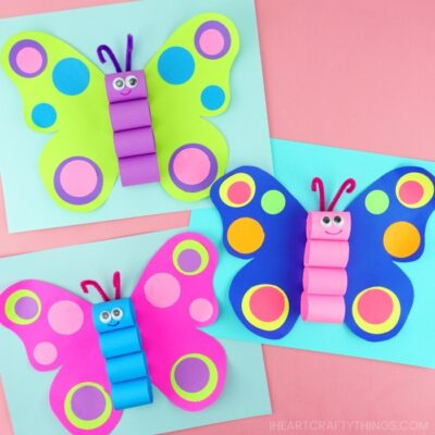 image showing how completed craft looks using butterfly template