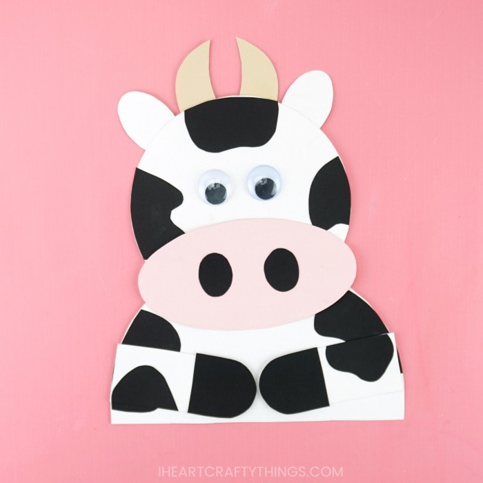 Paper Plate Cow Craft | 700x700