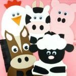 horse, sheep, cow, pig and chicken farm animal crafts