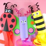ladybug, butterfly and bee spring windsock crafts