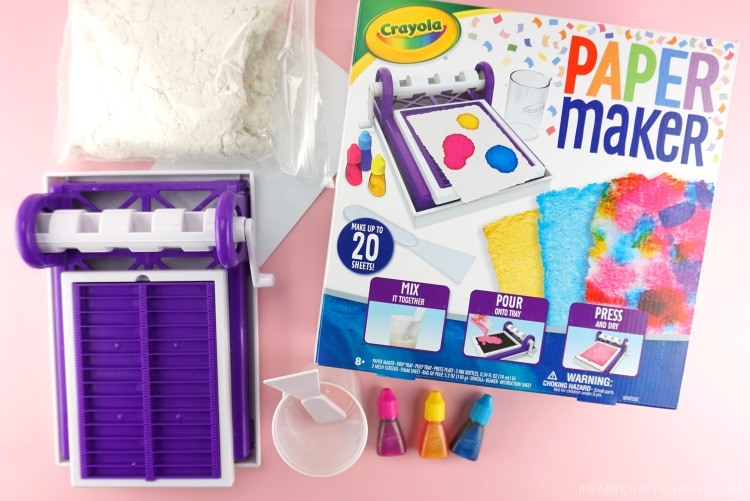 Image showing Crayola Paper Maker box with it's contents laid out next to it.