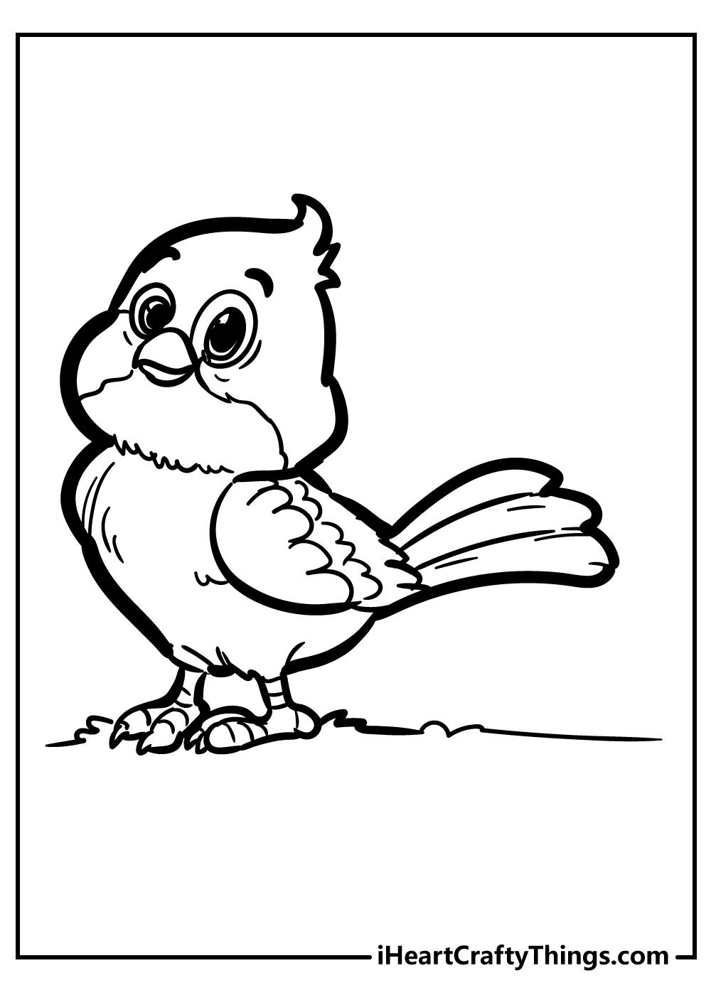 Unique Bird Coloring Pages