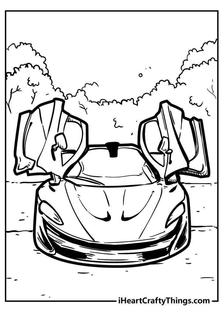 Cool Car Coloring Pages   18 Original And Free 18