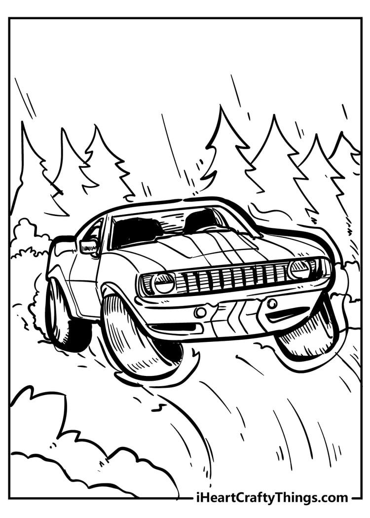 car coloring page printable