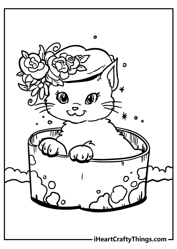 cat coloring pages for kids
