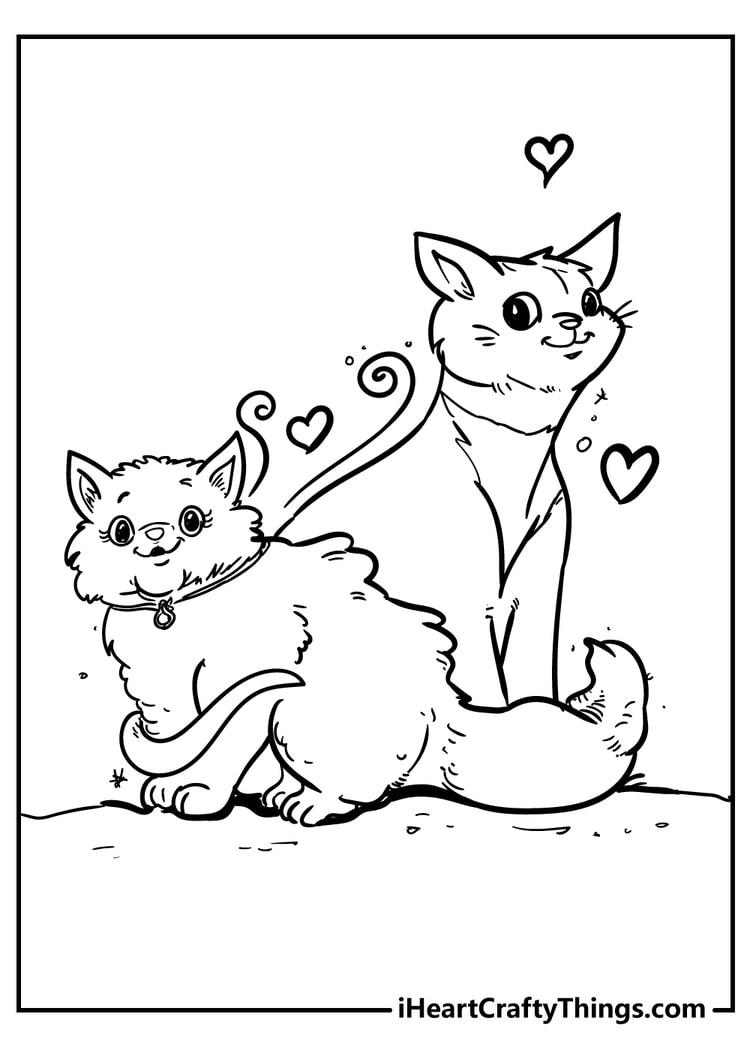 cats coloring sheet