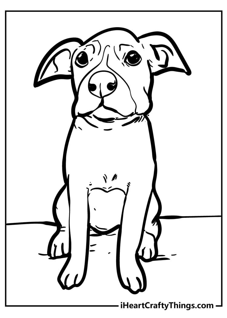 sad dog coloring page