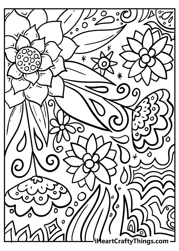 New Beautiful Flower Coloring Pages 100 Unique 2021