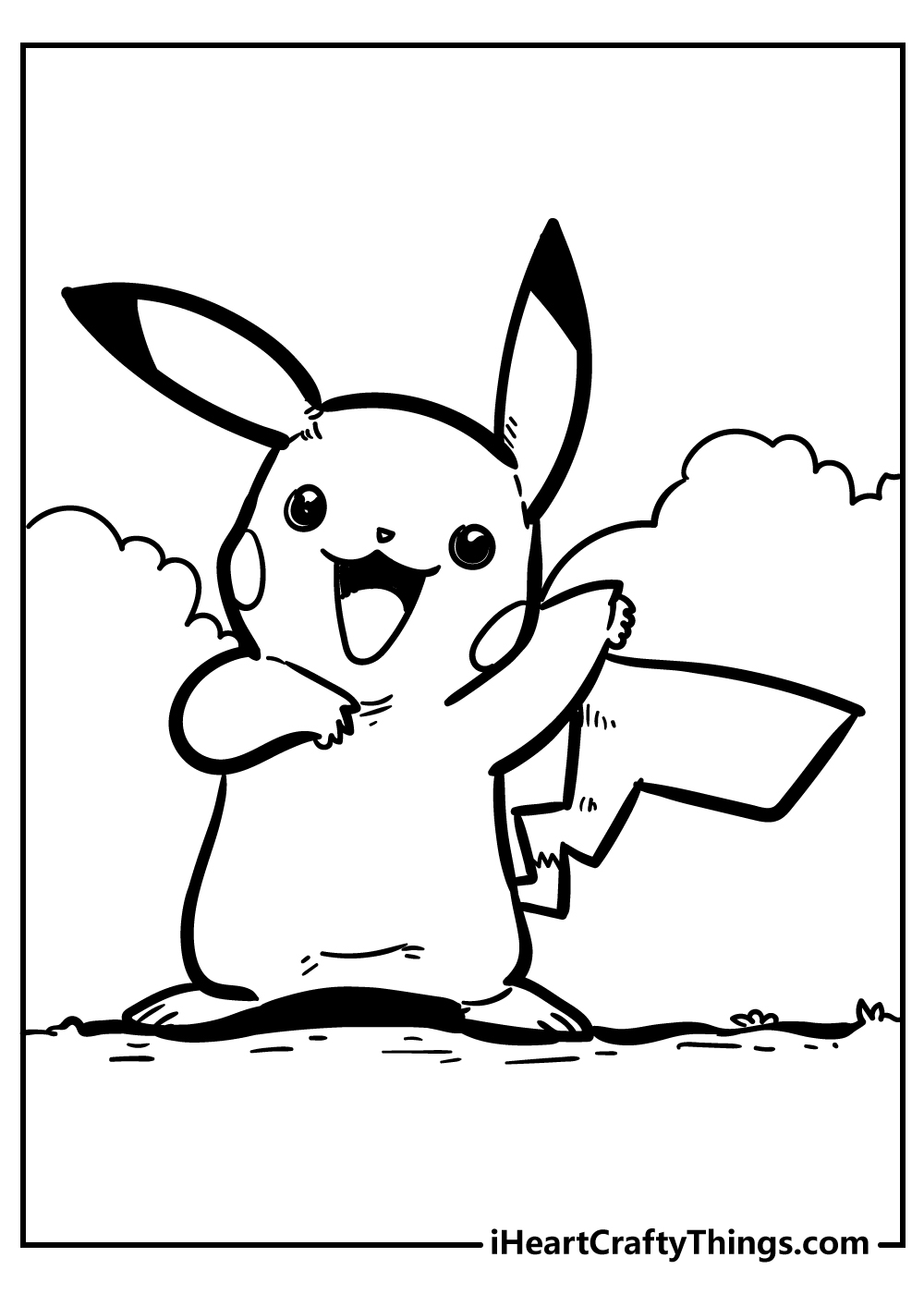 18 Powerful Pikachu Coloring Pages