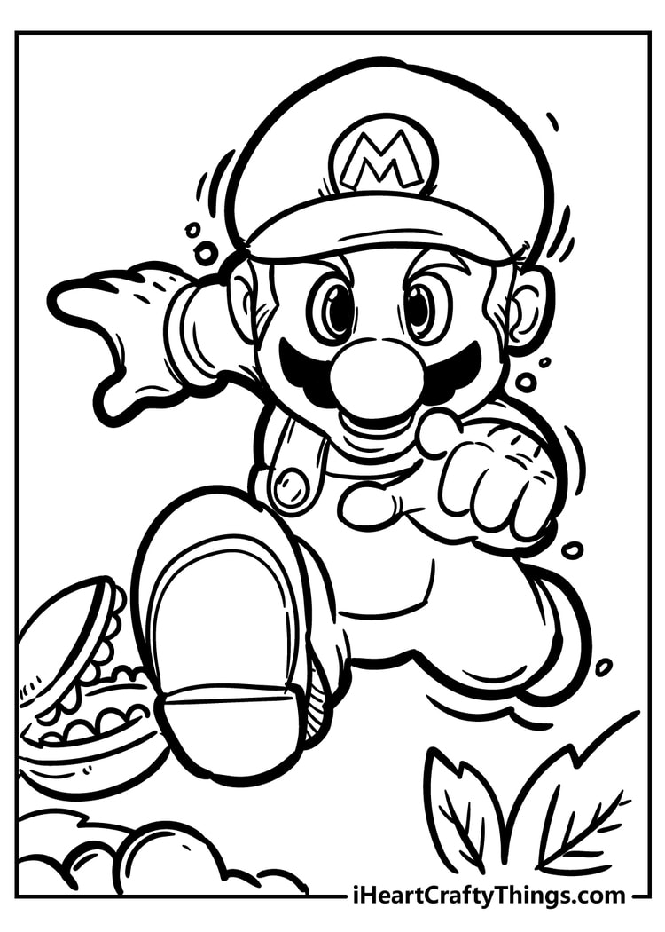 Super Mario Bros Coloring Pages   New And Exciting 18
