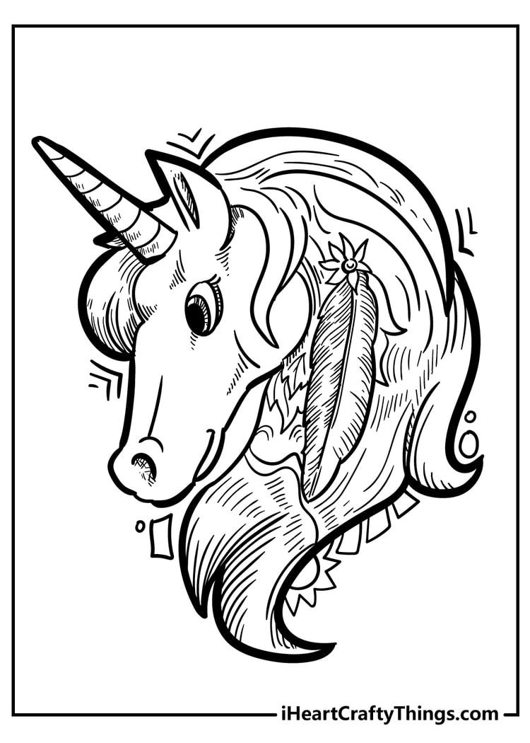 Unicorn Coloring Pages   18 Magical Unique Designs 18