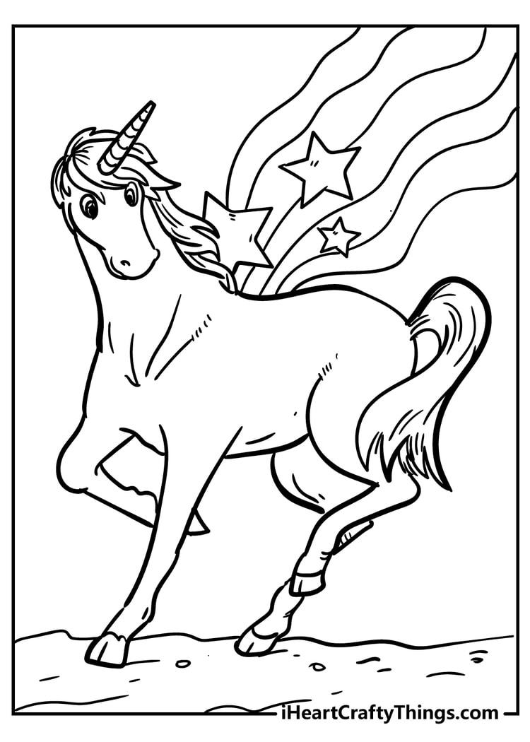 Unicorn Coloring Pages for Free