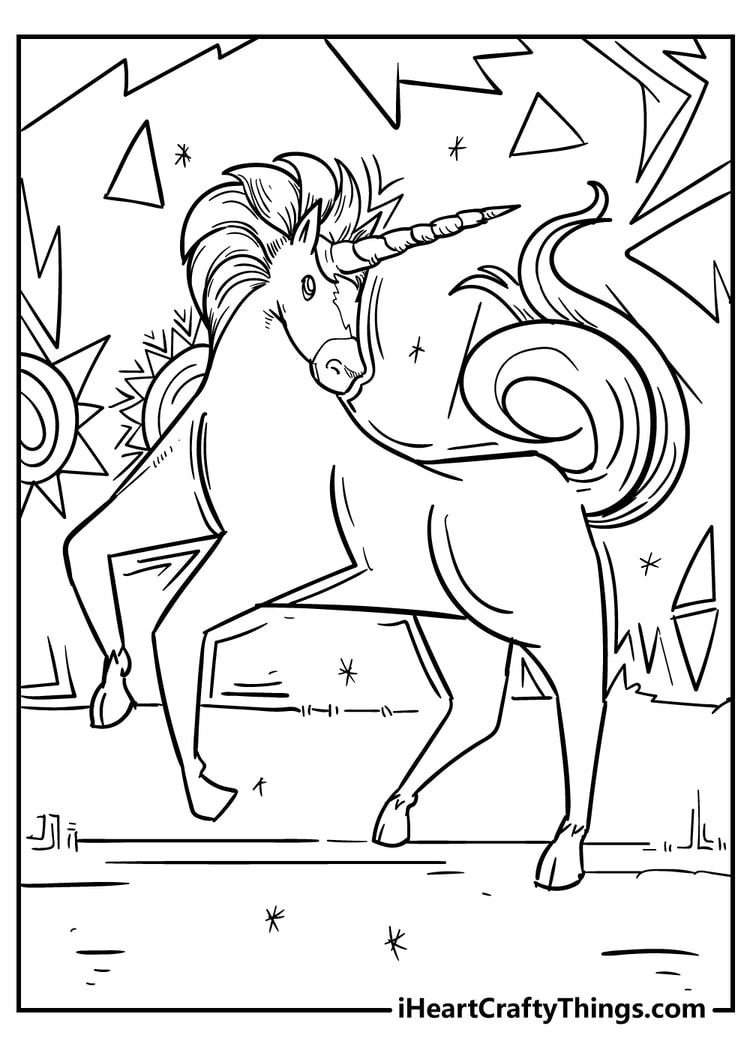 Unicorn Coloring Printable for Free