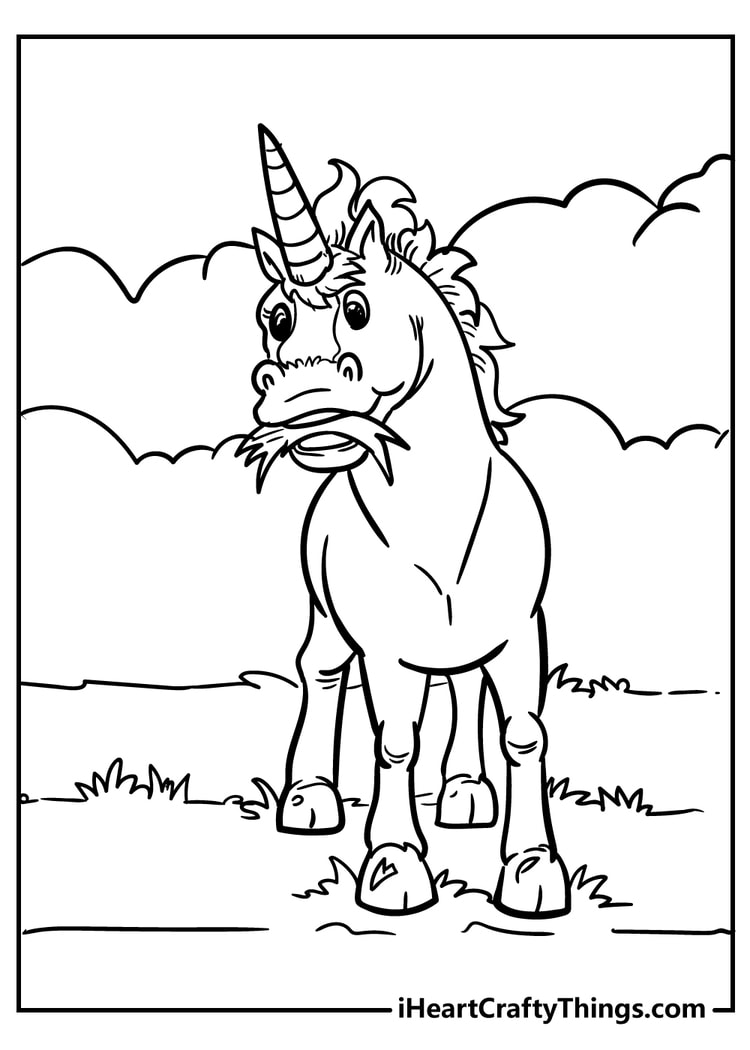 Funny Unicorn Coloring Pages