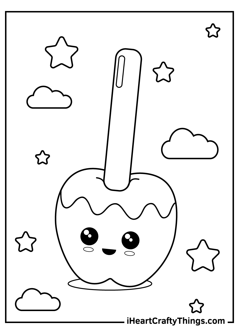 Apple Candy Coloring Pages printable