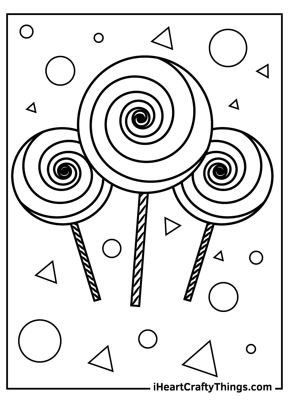 free candy coloring page