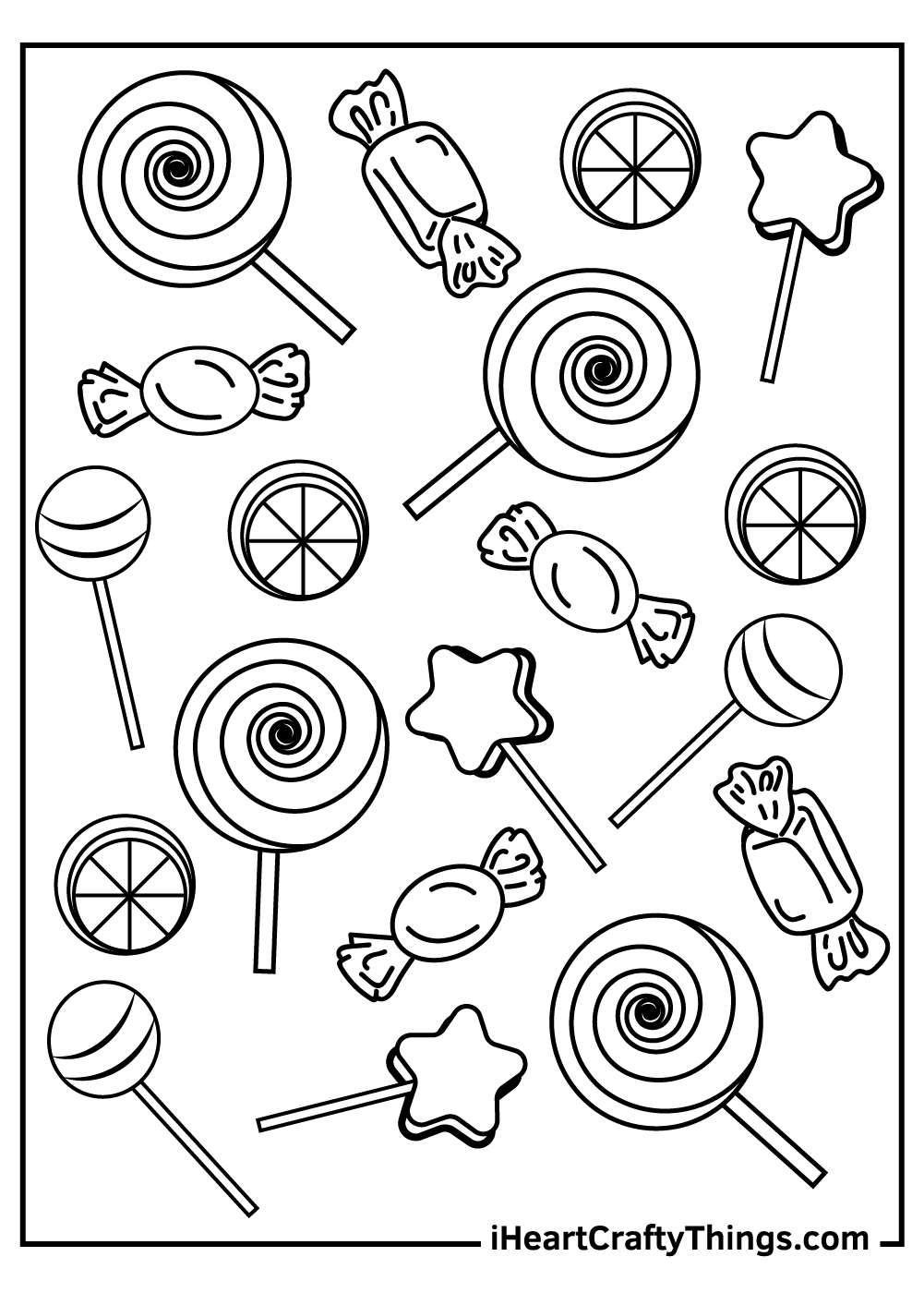 christmas candy coloring pages printable