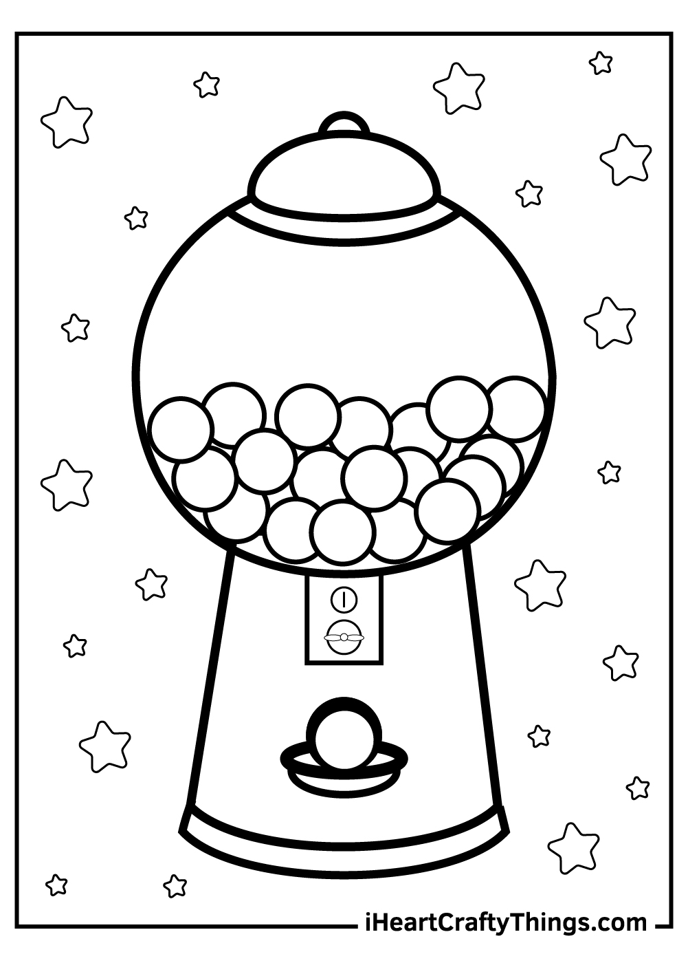 Candy box printable coloring pages