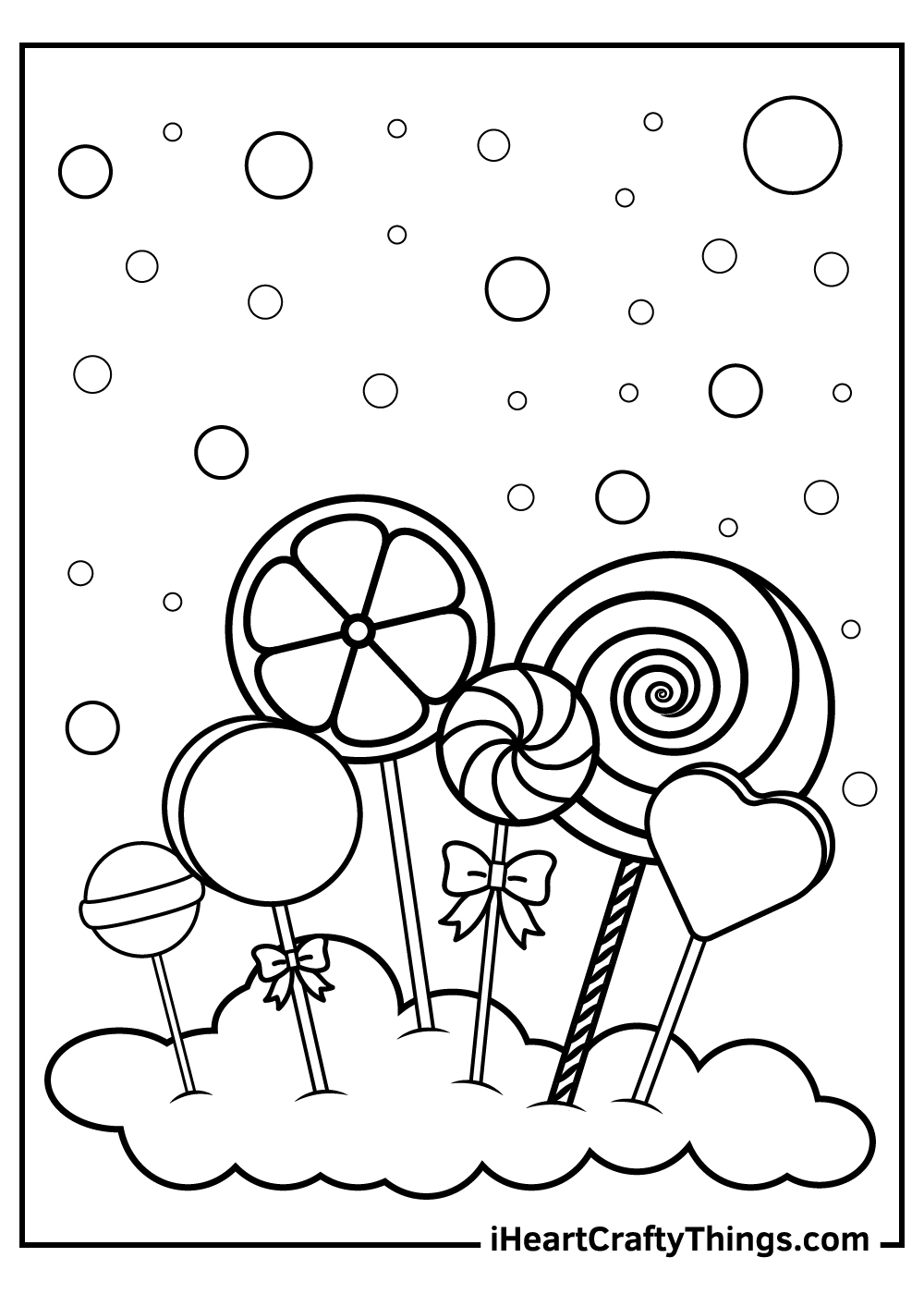 cotton candy coloring pages black and white