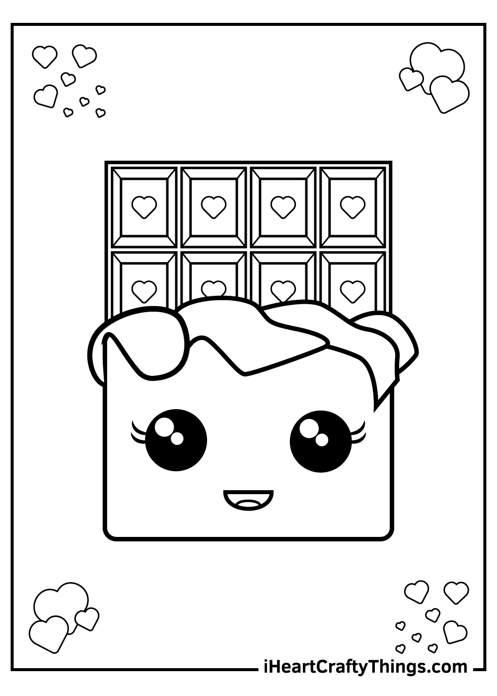 printable chocolate candy coloring pages