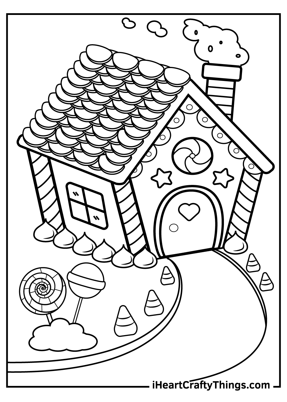 cute candy house coloring pages