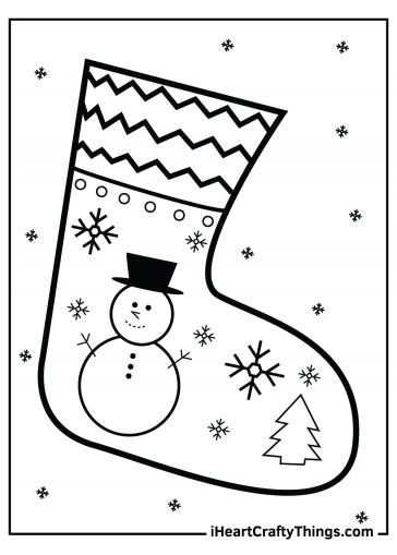 free pdf christmas stocking coloring pages