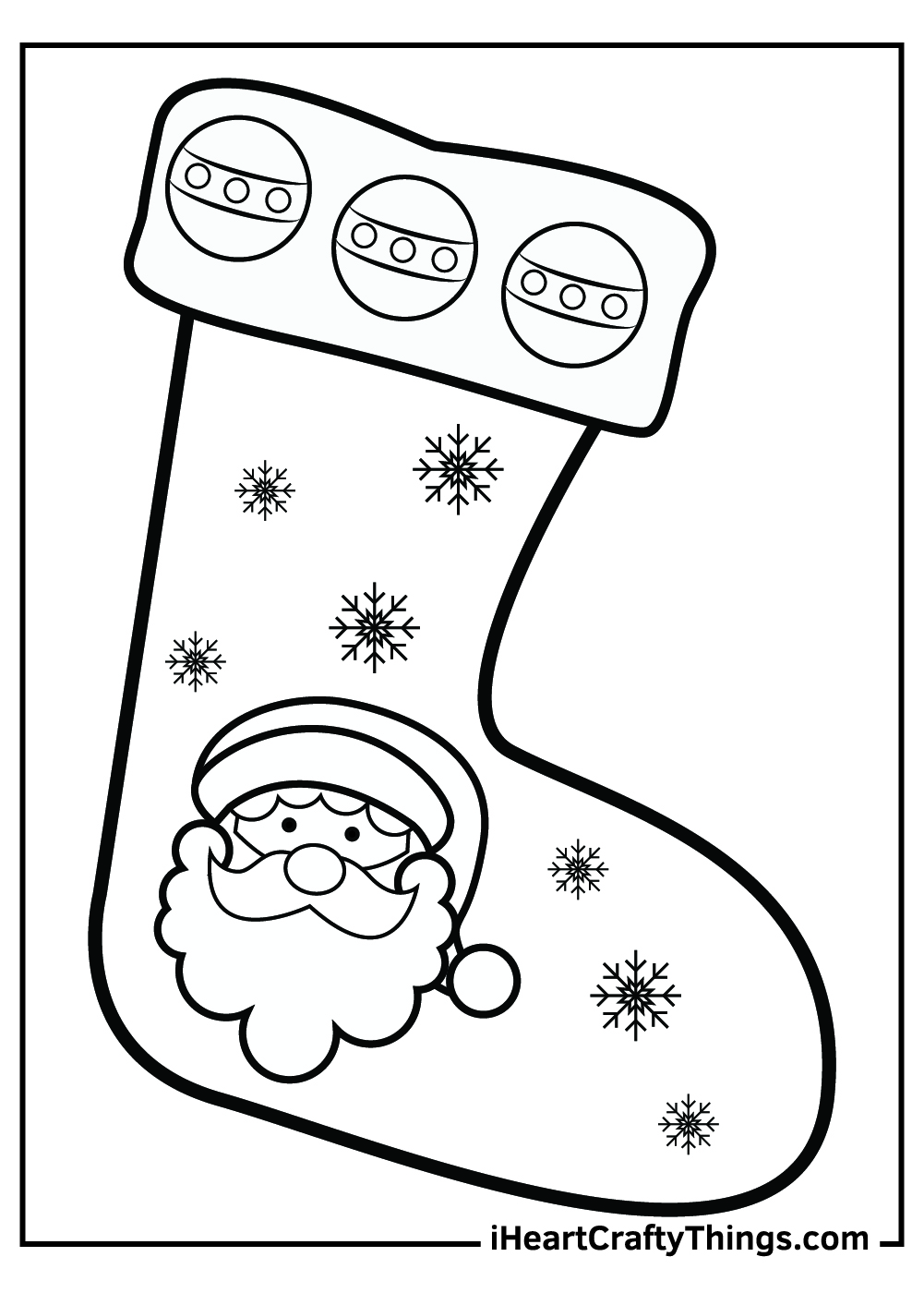 merry christmas stocking coloring pages