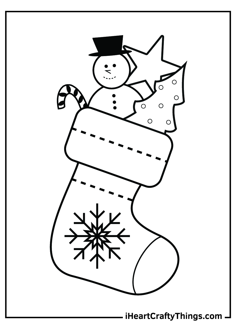 simple christmas stocking coloring pages pdf