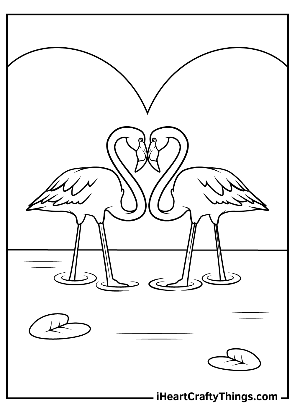pink flamingos coloring pages