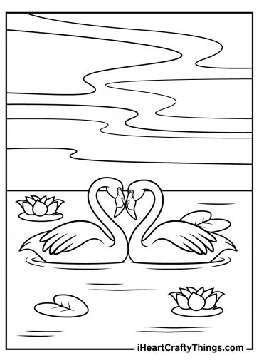 flamingos in love coloring pages