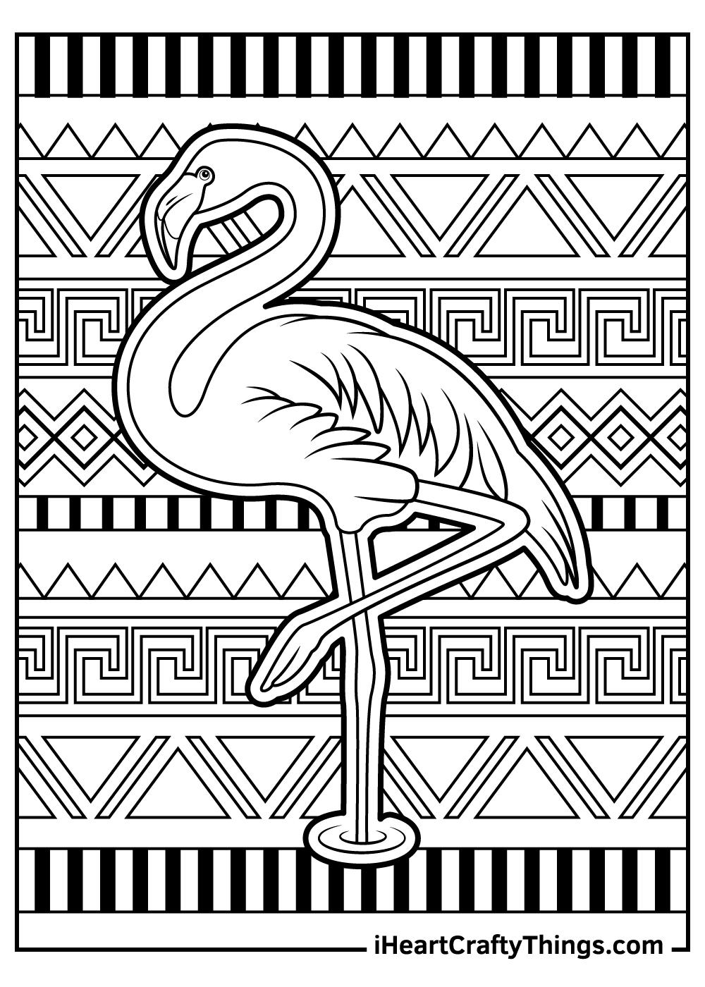 flamingo on one foot free printable