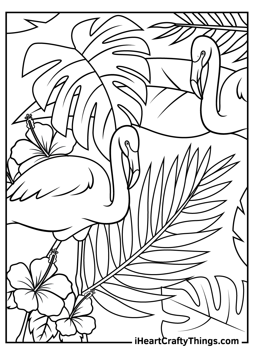 flamingos free printable coloring pages