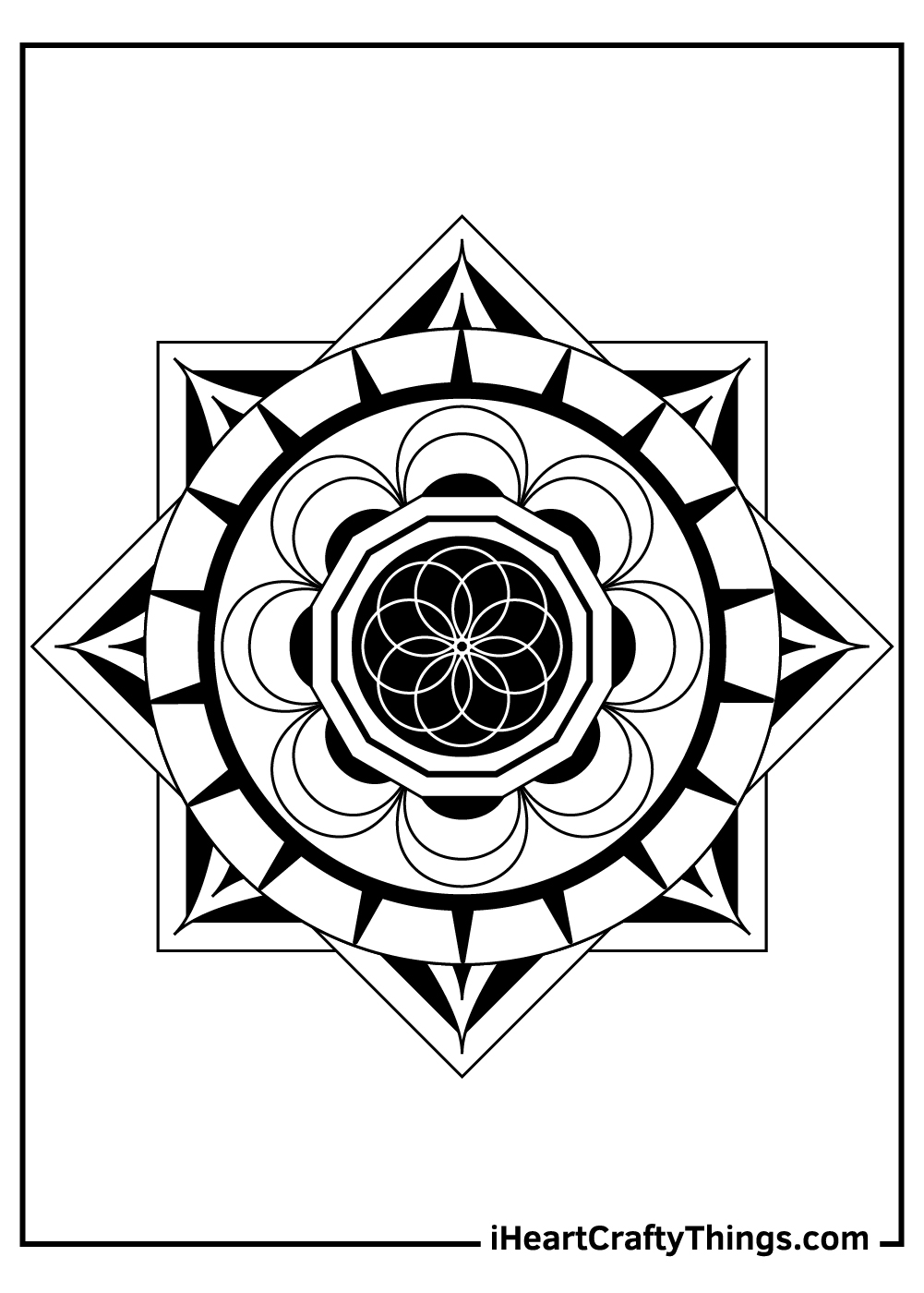 mystical mandala coloring pages free download