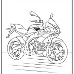 free motorcycle coloring pages black and white