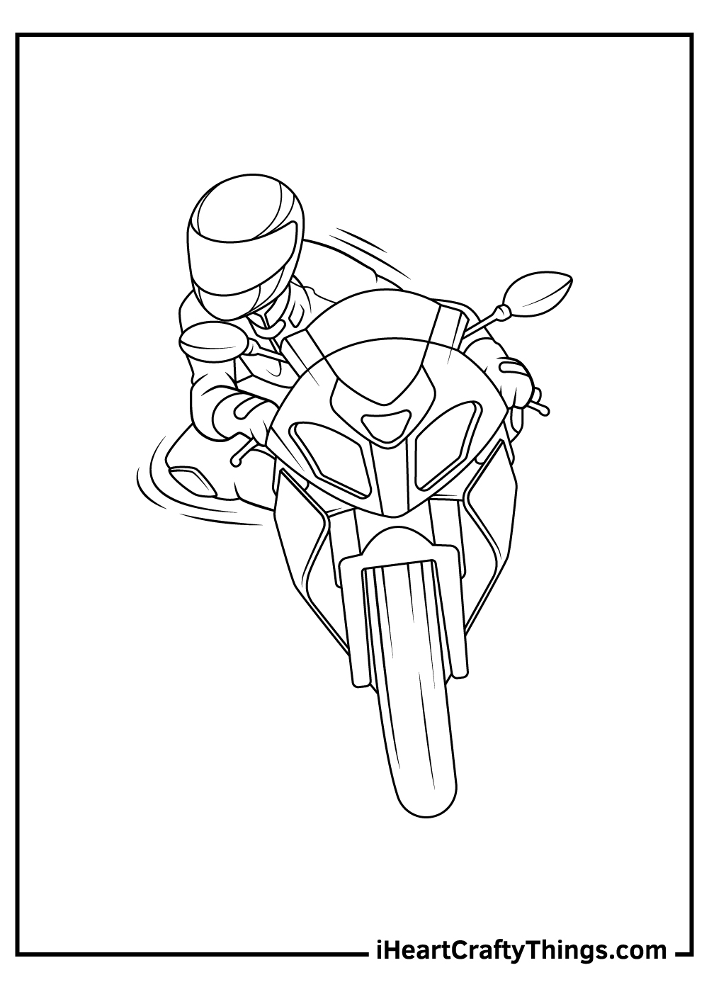 racing motorcycle coloring pages