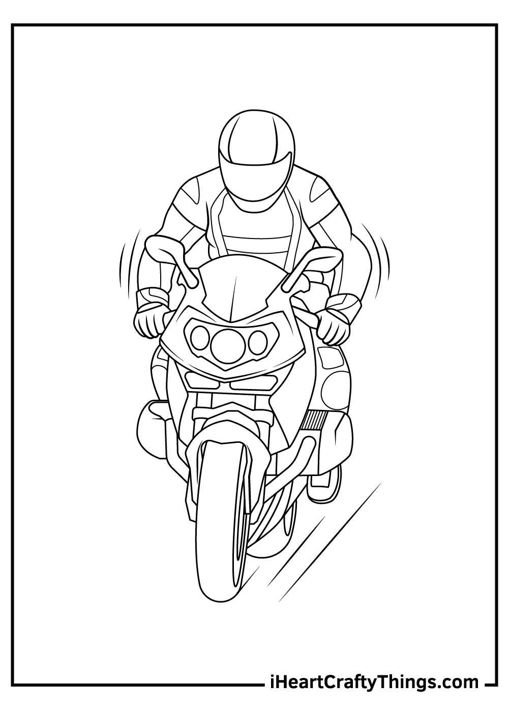 boys and motorcycle coloring pages