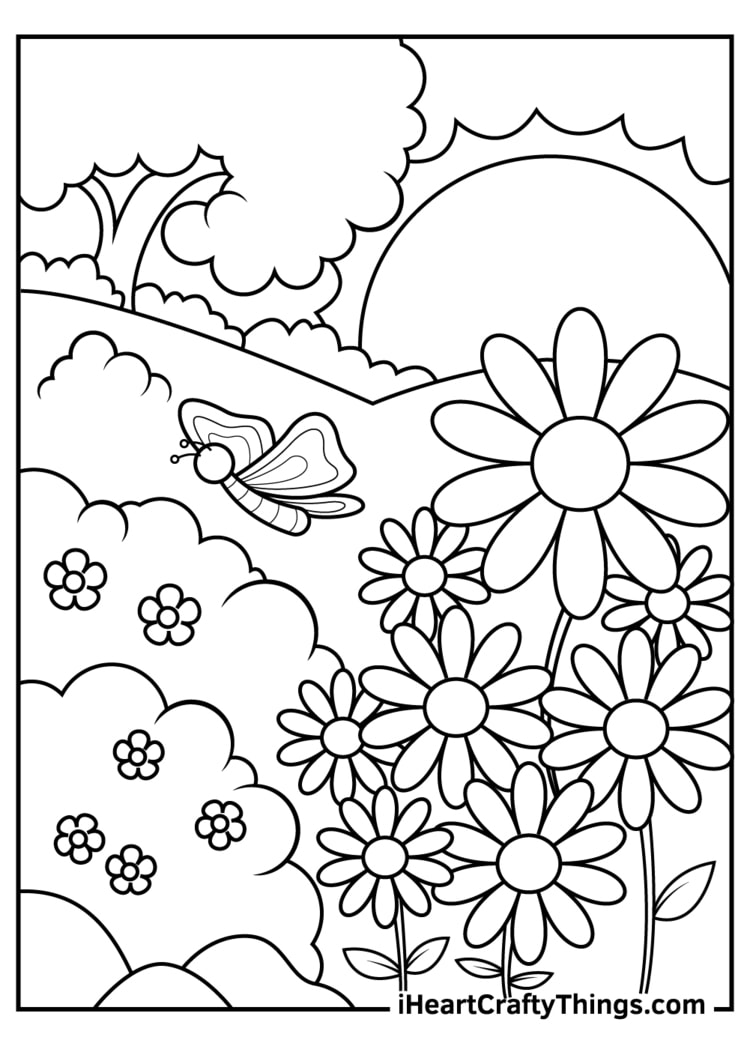 Printable Seasons Coloring Pages   18 Free Updated 18