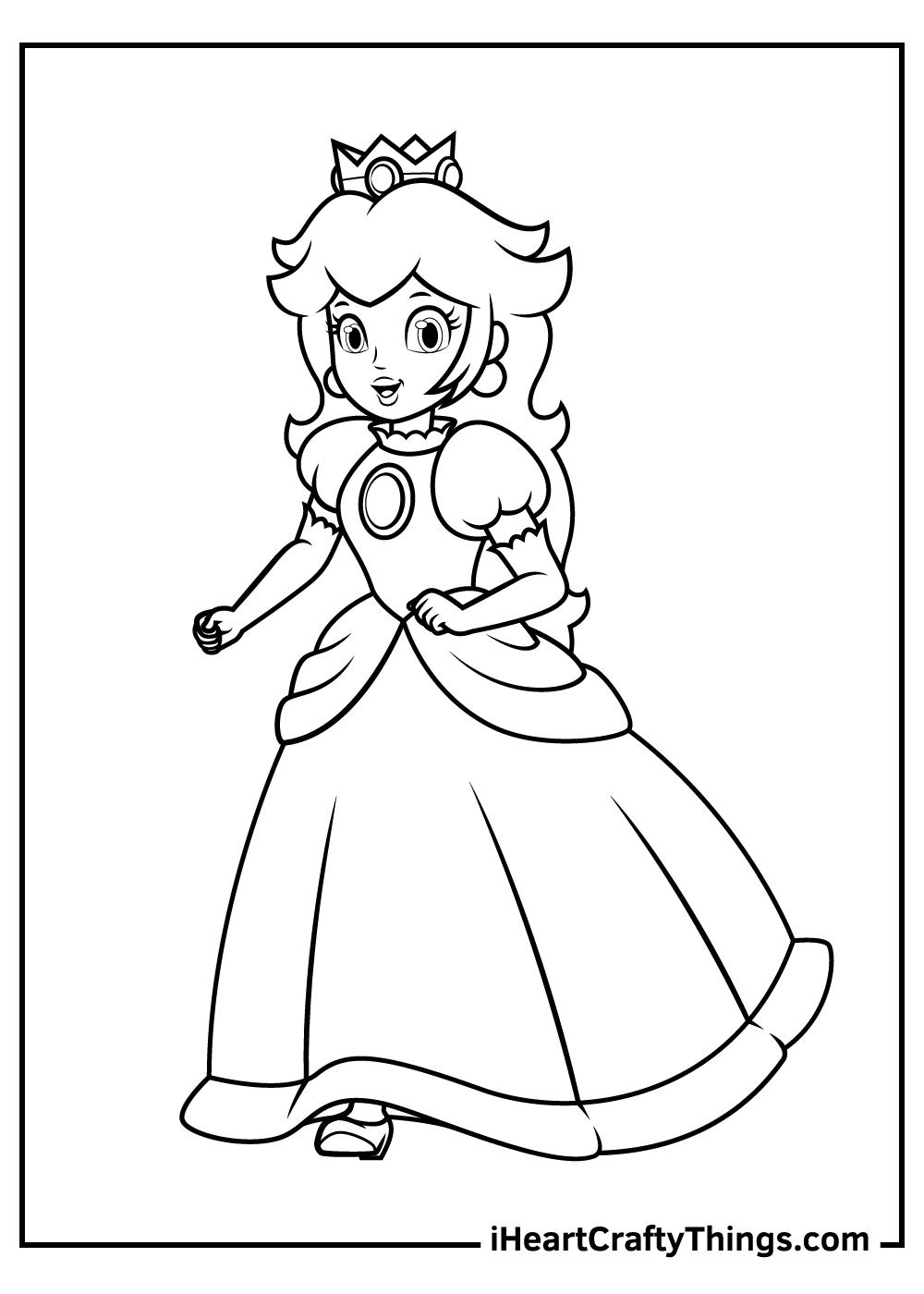 paper princess peach coloring pages