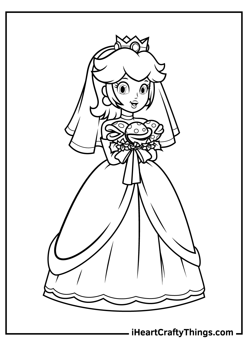 princess peach coloring pages modern wedding