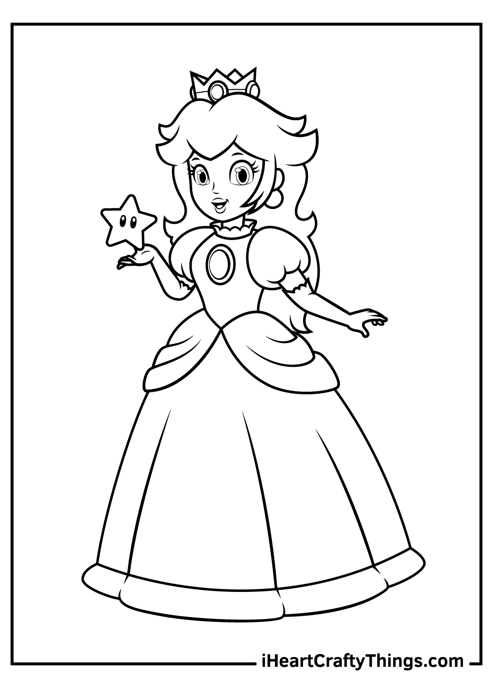 free princess peach coloring pages for girls