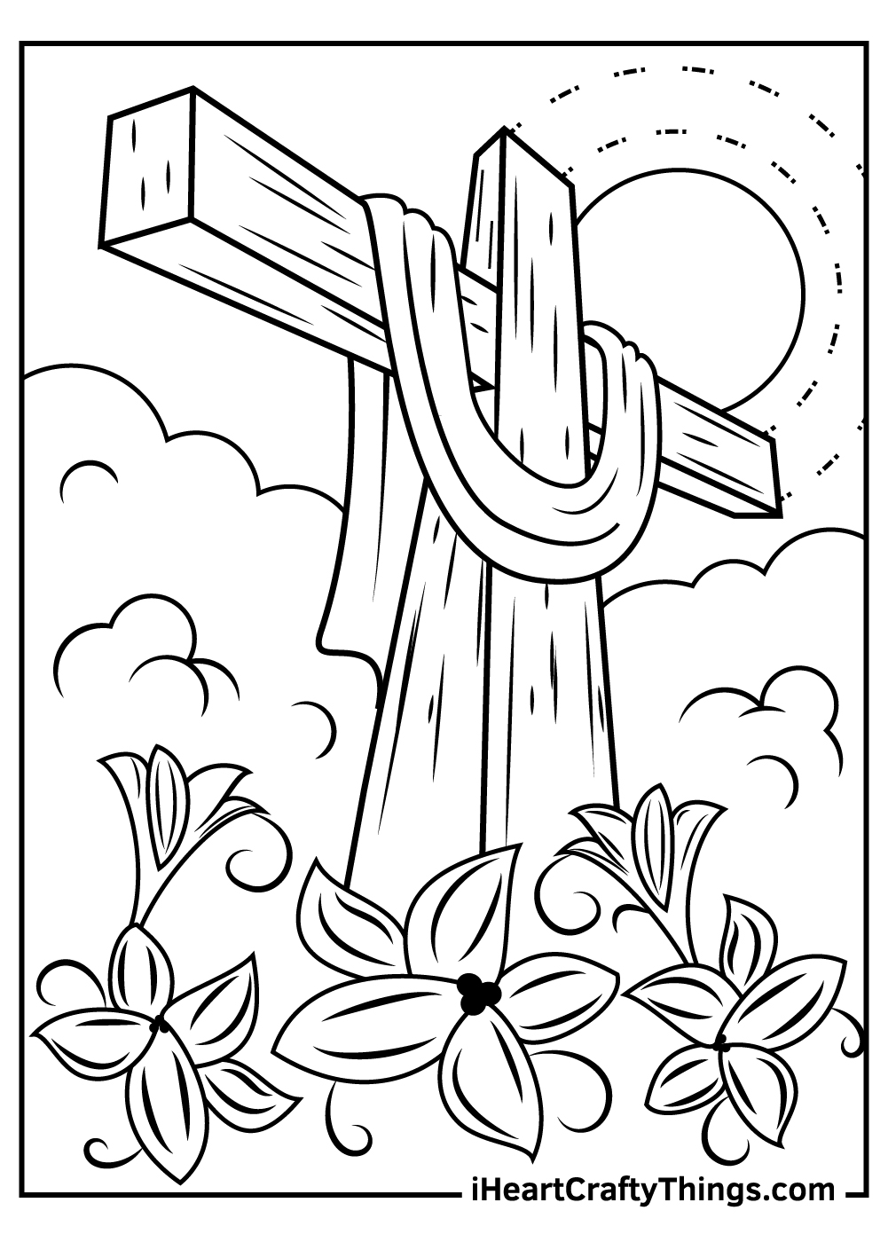 religious easter coloring pages adults