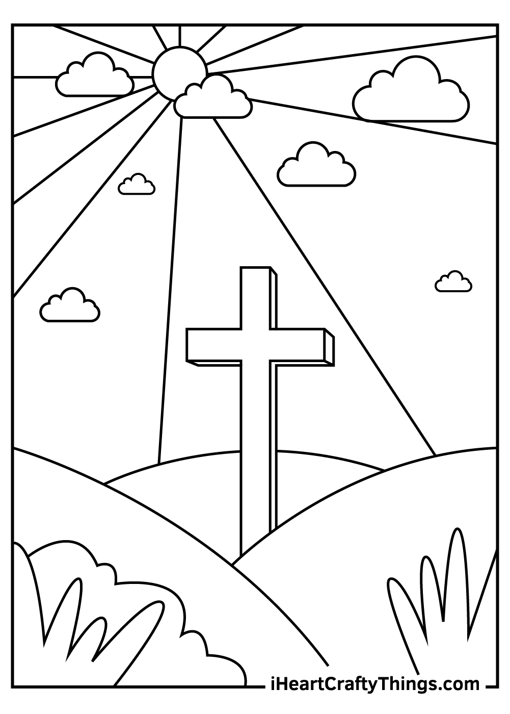 black and white easter pages printable
