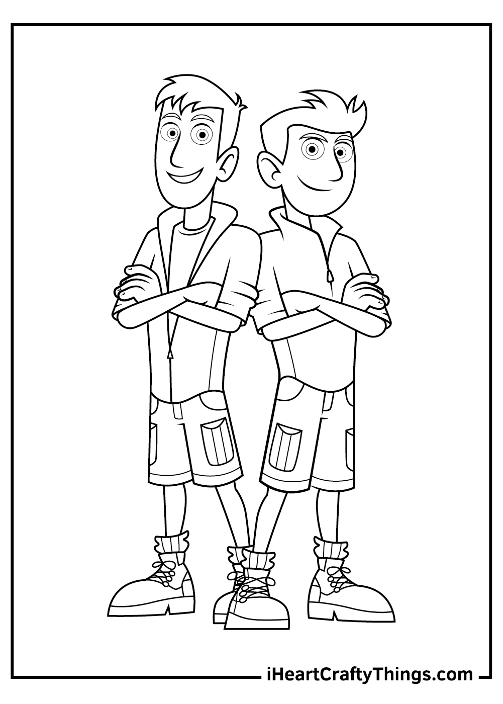 wild kratts coloring pages for kids