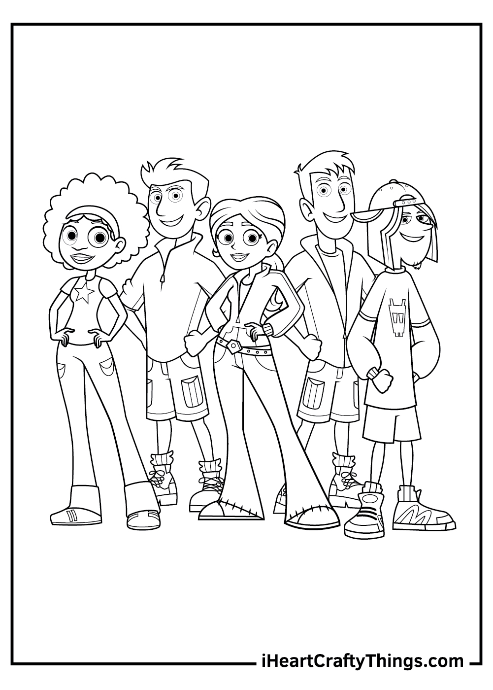 wild kratts coloring pages crew