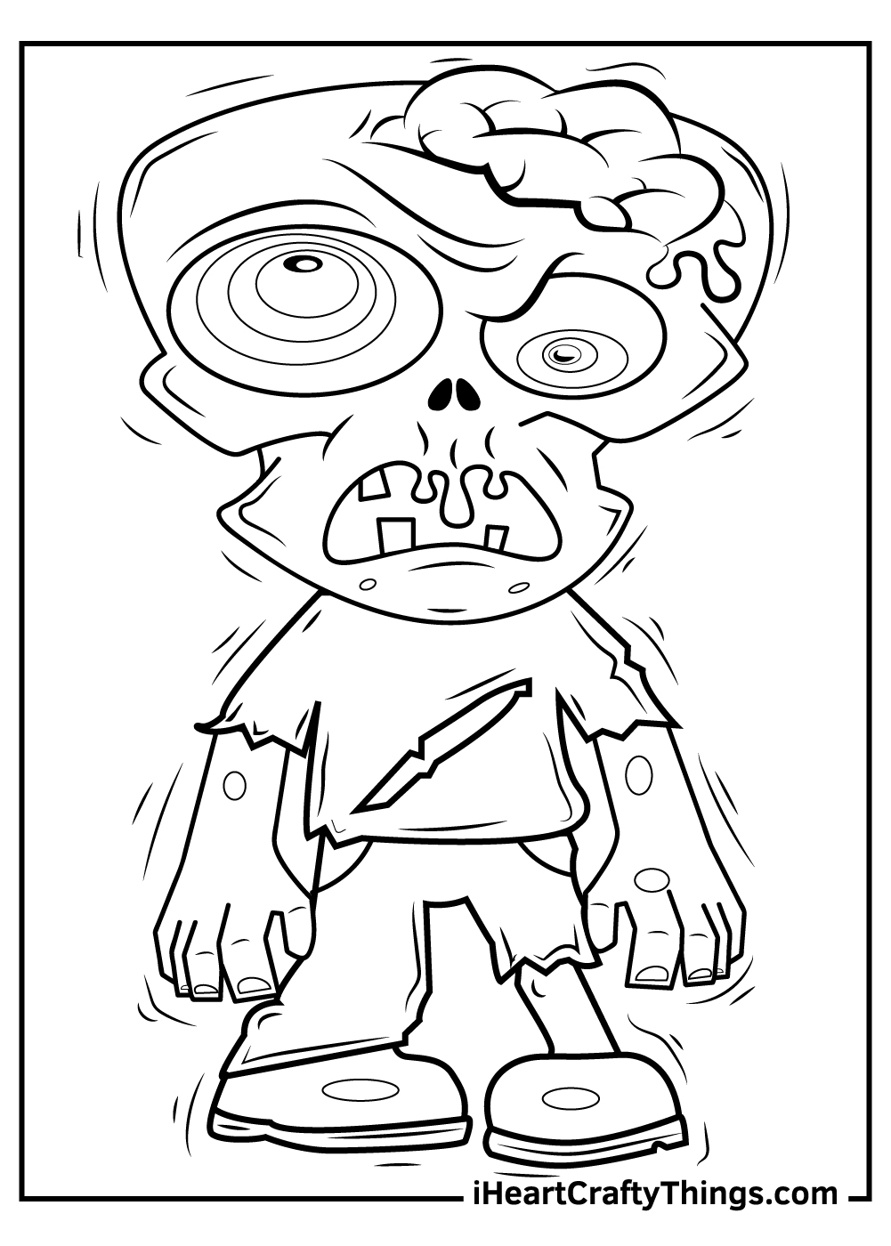 walking dead free zombie coloring pages