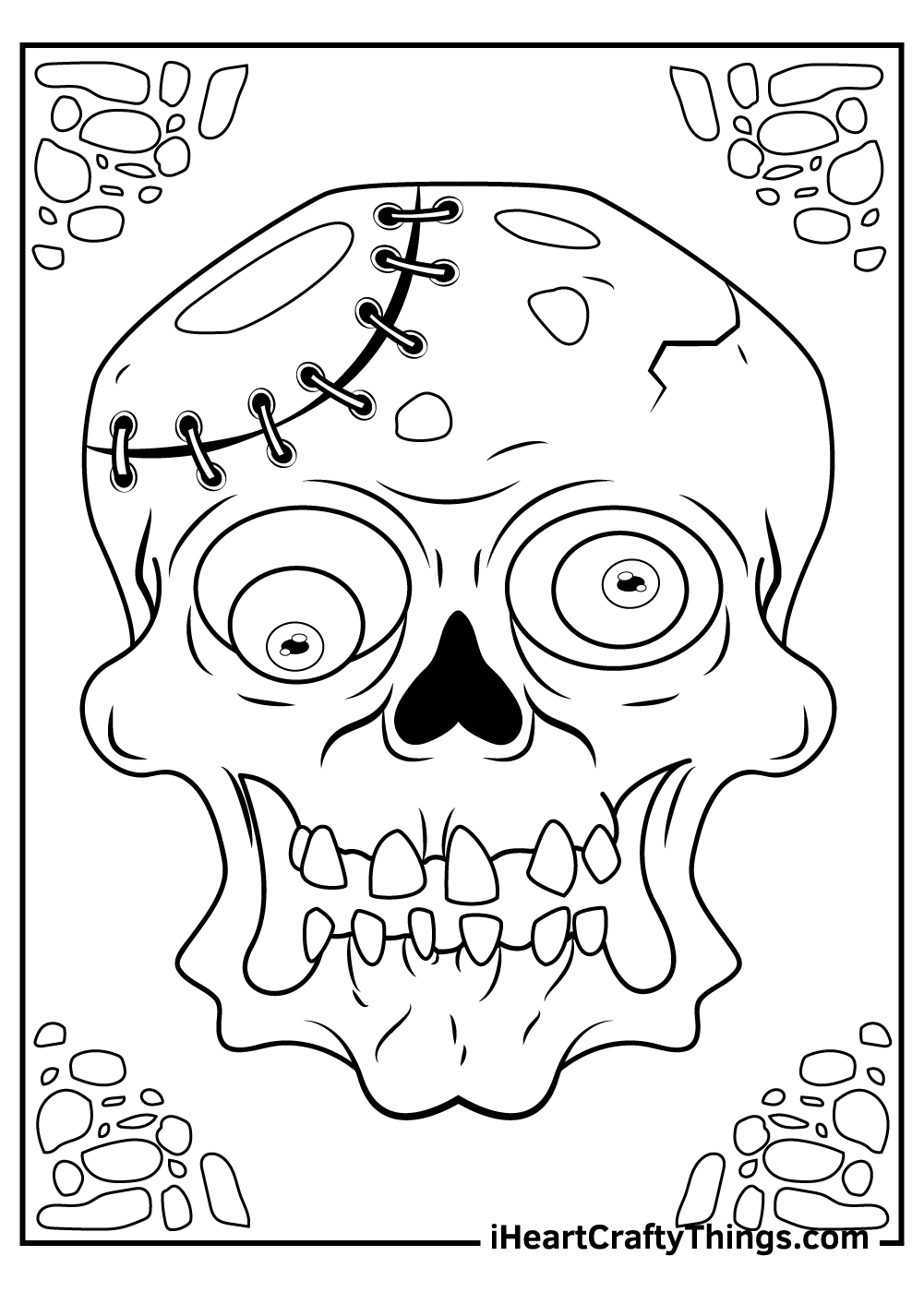 adult zombie coloring pages free sheet